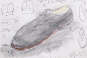 写真:靴のデザインを決めます