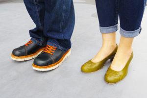 外羽靴&編み込みパンプス